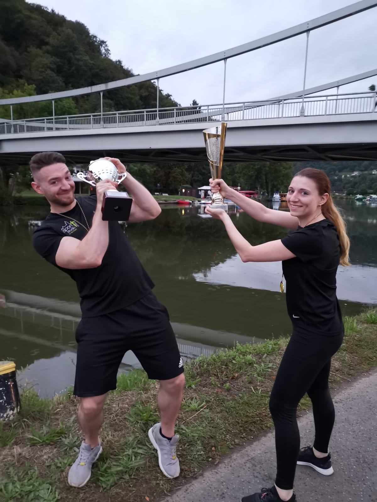 Andy und Johanna im Pokalkampf